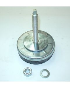 1 Maschinenfuß D200 M20x160 NEU, silber Fräsmaschine-Drehmaschine