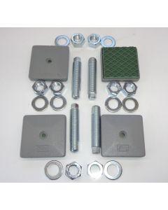 4 Maschinenfüße 85x85, M20x100 NEU grau Fräsmaschine / Drehmaschine