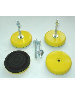 4 Maschinenfüße D160 M16x150 gelb neu Fräsmaschine/ Drehmaschine