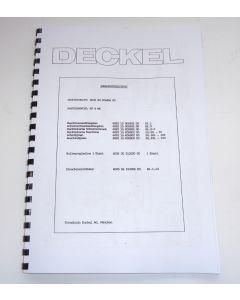 Elektrische Unterlagen FP4MK-2203 ab Bj.77 Deckel Fräsmaschine