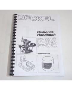 Bedienerhandbuch Deckel Fräsmaschine FP2/3/4 NC Sinumerik 3M