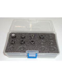 Spannzangensatz ER11 1-7mm  1mm steigend Rl. max. 8µm, Deckel Fräsmaschine
