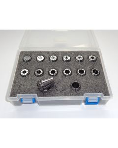 Spannzangensatz (Rl. 0,008mm) ER20 Zwischengrößen D1,5 - D14,5mm (PBox)