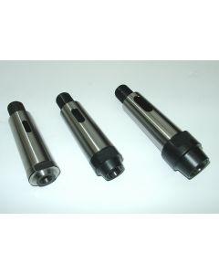 3 Kegelreduzierhülse MK4 auf MK1, 2 und 3, S20x2 z.B. Deckel Fräsmaschine