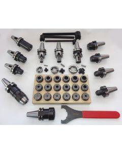 Werkzeugaufnahme Satz SK30 DIN69871 und Spannzange Satz ER32 mit Schlüssel