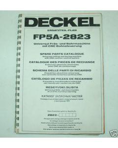 Ersatzteilplan Deckel Fräsmaschine FP5A 2823