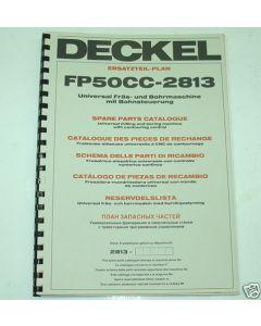 Ersatzteilplan Deckel Fräsmaschine FP50CC 2813