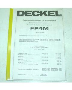 Elektrische Unterlagen Deckel Fräsmaschine FP4M, ab  Bj.85