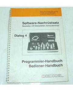 Bediener-Programmier-Handbuch D4 f. Deckel Fräsmaschine