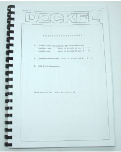 Elektrische Unterlagen  Deckel FP3A 2804 mit Steuerung 2103