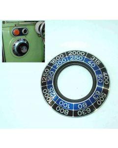 Schild für Hauptgetriebe gebr. für Deckel  FP3 Fräsmaschine