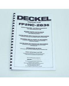 Ersatzteilplan Deckel Fräsmaschine FP2NC 2836