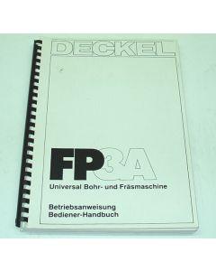 Bedienerhandbuch Deckel Fräsmaschine FP3A 2206 mit Steuerung 2102
