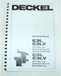 Betriebsanleitung Deckel Fräsmaschine FP E3L- E3LV C3L-LV