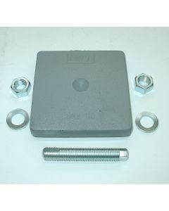 M12x150 grün z.B 4 Maschinenfüße 85x85 für Deckel  />FP1 Fräsmaschine