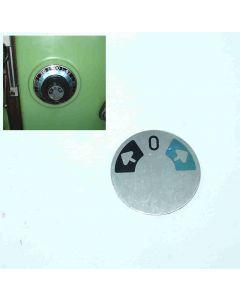 Schild für Drehzahl- oder Vorschubgetriebe neu, Deckel FP2 u. FP3 Fräsmaschine