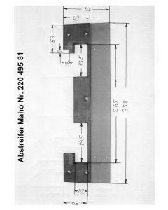 Y - Abstreifer 22049581 für Maho MH500