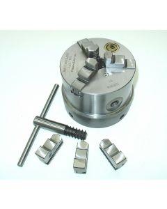 Dreibackenfutter 100 mm Spiralfräseinrichtung SK40 z.B. für Deckel Fräsmaschine