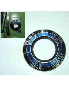 Schild für Vorschubgetriebe gebr. für Deckel FP1  Fräsmaschine