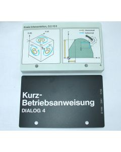 Kurzbetriebsanleitung Dialog4 für Deckel Fräsmaschine