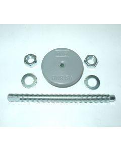 1 Maschinenfuß D 60, M12x150 grau NEU Fräsmaschine / Drehmaschine