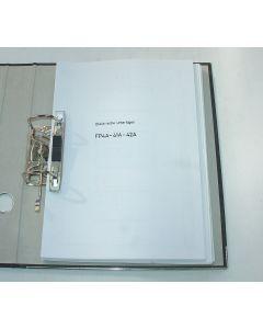 Elektrische Unterlagen  Deckel Fräsmaschine FP4A, 41A, 42A 2301