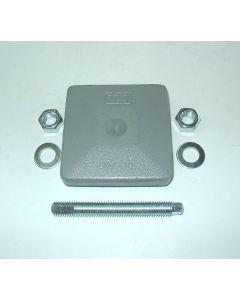 1 Maschinenfuß 85x85, M12x100 grau NEU Fräsmaschine / Drehmaschine