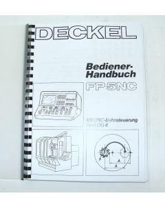 Bedienerhandbuch Deckel FP5NC 2806  Steuerung Dialog 4