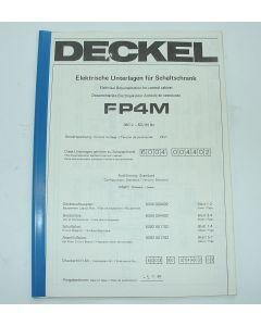Elektrische Unterlagen  Deckel Fräsmaschine FP4M, bis  Bj.85