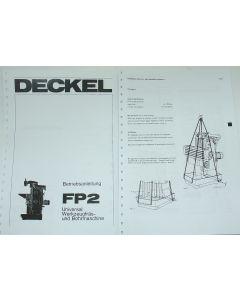 Betriebsanleitung Deckel Fräsmaschine FP2, Bj.75- 77