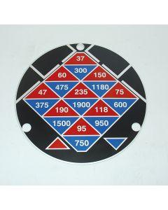 Schild für Hauptgetriebe neu für Macmon ALG200  Fräsmaschine