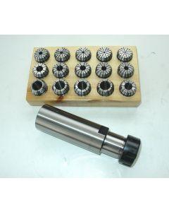 Spannzangenfutter ER25 zylindr. Schaft D40, L100 Satz