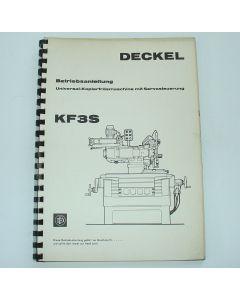Betriebsanleitung Deckel KF3S