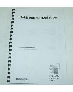 Elektrische Unterlagen Fräsmaschine Deckel FP2-3-4 A Dialog11.