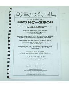 Ersatzteilplan Deckel Fräsmaschine FP5NC 2806