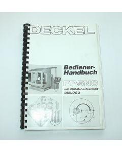 Bedienerhandbuch Deckel FP5NC 2806  Steuerung Dialog 3