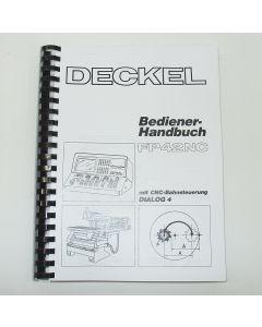 Bedienerhandbuch Deckel Fräsmaschine FP42 NC 2387 D4