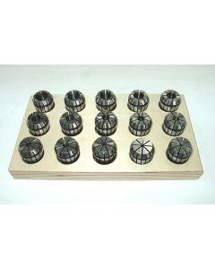 Spannzangensatz ER25  D2-16mm Rl. max 8µm z.B. für Deckel Fräsmaschine