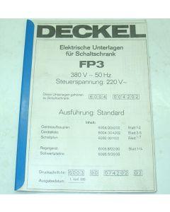 Elektrische Unterlagen  Deckel Fräsmaschine FP3, ab  Bj.78