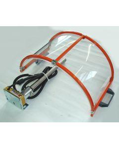 Futterschutz bis D200mm klappbar mit Mikroschalter für Drehmaschinen