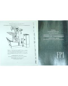 Betriebsanleitung Deckel FP1 Bj. 50-58 francais