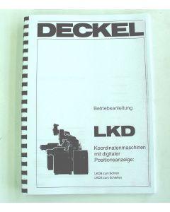Betriebsanleitung Deckel LKD