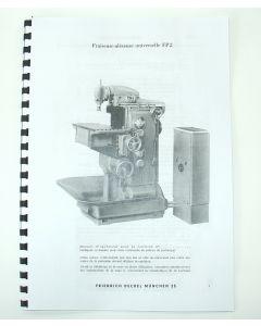 Betriebsanleitung Deckel Fräsmaschine FP2,  bis Bj.60 francais