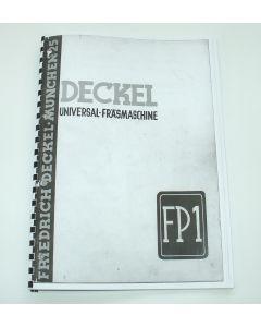 Bedienungsanleitung- Prospekt für Deckel FP1 Bj. 1938-45