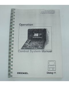 Control System Manual for Deckel Dialog 11