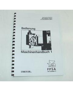 Maschinenhandbuch 1 Deckel FP5NC 2806  Steuerung Contour 3