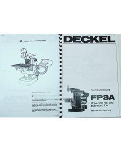 Betriebsanleitung FP3A 2206 CNC 2101 Deckel Fräsmaschine