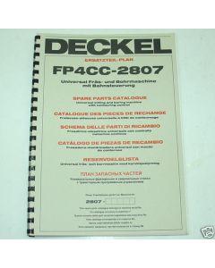 Ersatzteilplan Deckel Fräsmaschine FP4CC 2807