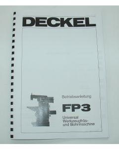 Betriebsanleitung Deckel Fräsmaschine FP3,  bis Bj.75-77