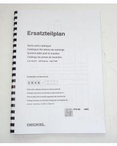 Ersatzteilplan Deckel Fräsmaschine FP5-80 2846